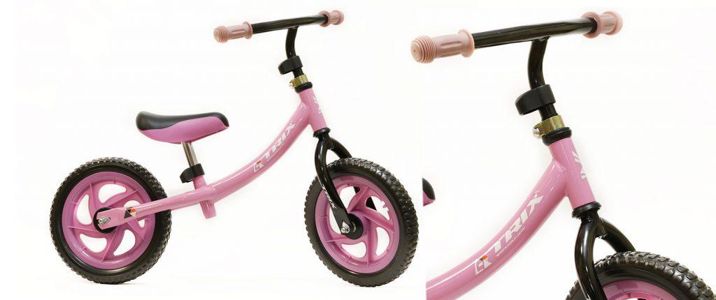 "Беговел TRIX /диаметр колес:12""/рама:сталь/обода:пластик/цвет:розовый/"