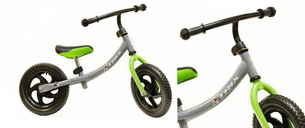 "Беговел TRIX /диаметр колес:12""/рама:сталь/обода:пластик/цвет:серый/"