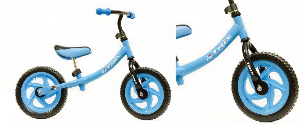 "Беговел TRIX /диаметр колес:12""/рама:сталь/обода:пластик/цвет:голубой/"