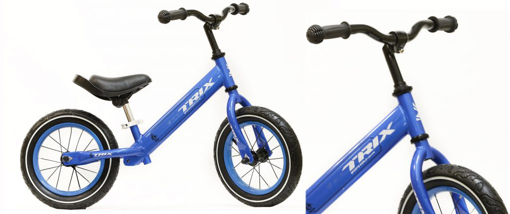 """Беговел TRIX /диаметр колес:12""""/рама:сталь/обода:сталь/цвет:голубой/"""