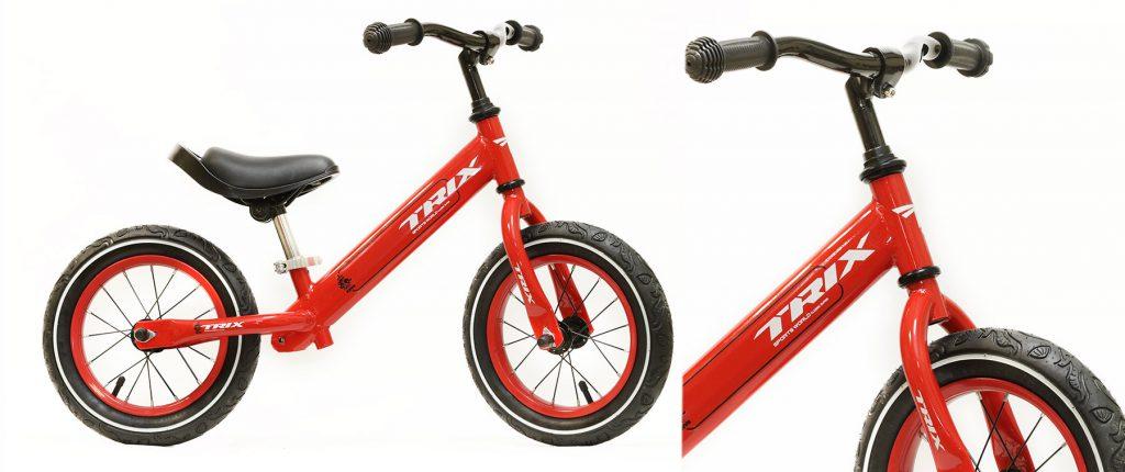 """Беговел TRIX /диаметр колес:12""""/рама:сталь/обода:сталь/цвет:красный/"""