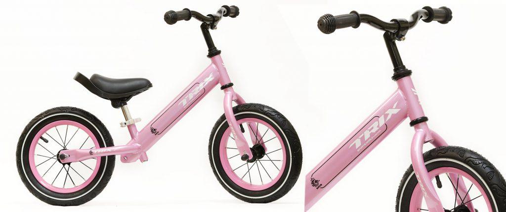 """Беговел TRIX /диаметр колес:12""""/рама:сталь/обода:сталь/цвет:розовый/"""
