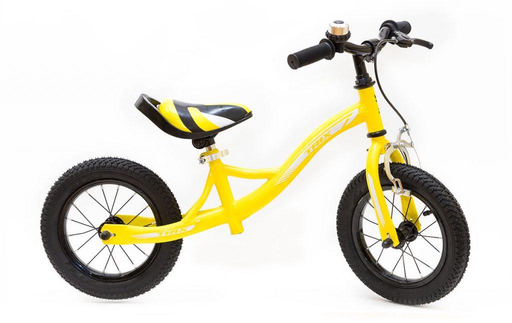 "Беговел TRIX /диаметр колес:12""/рама:сталь/обода:сталь/цвет: желтый/"